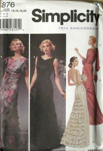 Here S A Fabulous Reproduction 1930s Gown With The Loveliest Godet Of Tiered Ruffles In Back With Images Vintage Evening Gowns Vintage Dress Patterns Evening Dress Fashion