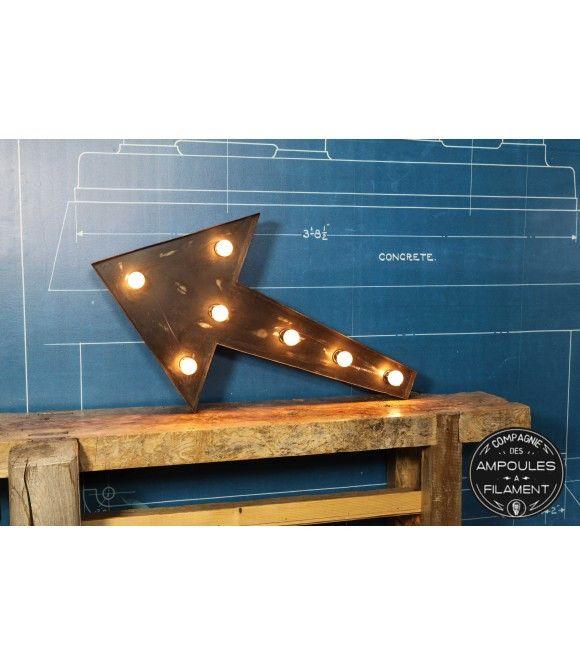 Assez Flèche Enseigne Lumineuse Vintage Industriel #Luminaire #Edison  AS43
