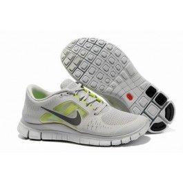 Nike Free Run+ 3 Unisex Grå Hvit   billig Nike sko   Nike sko norge   kjøp Nike sko   ovostore.com