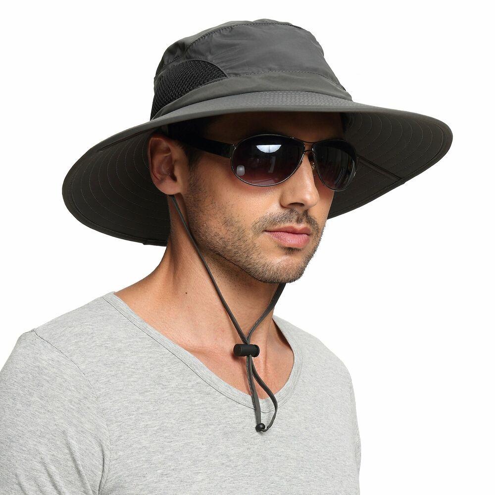 Waterproof Sun Protection Bucket Hat Boonie Cap EINSKEY Men/'s Wide Brim Sun Hat