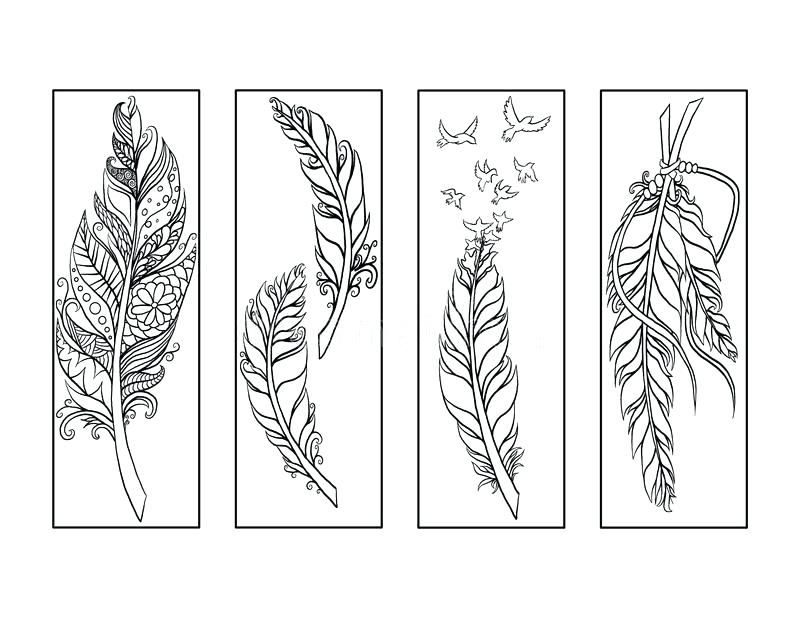 Bookmark Coloring Pages Feather Bookmarks Coloring Page Bookmark