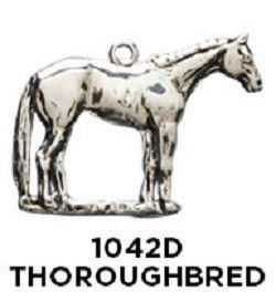 Thoroughbred Horse Charm - Sterling Silver