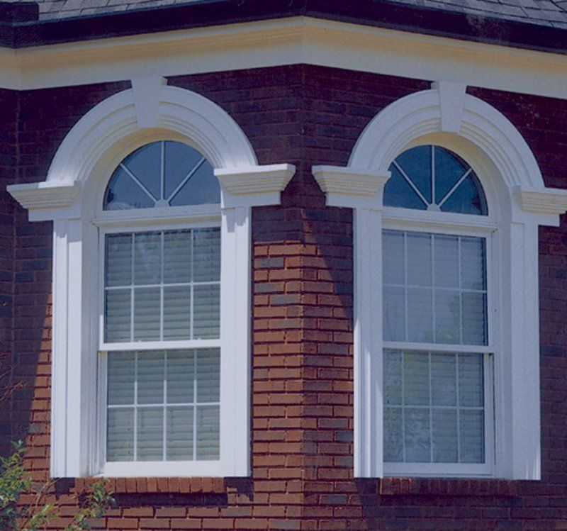 Custom arch window pediment casing arches pinterest for Exterior pediments