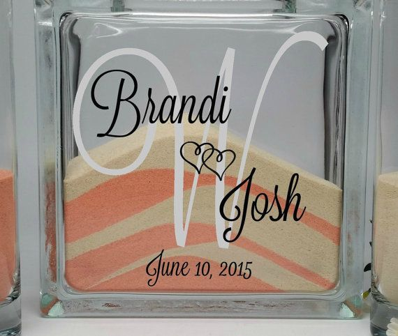 Beach Wedding Candle Ceremony: Sand Ceremony Set, Unity Sand Vase, Blended Wedding
