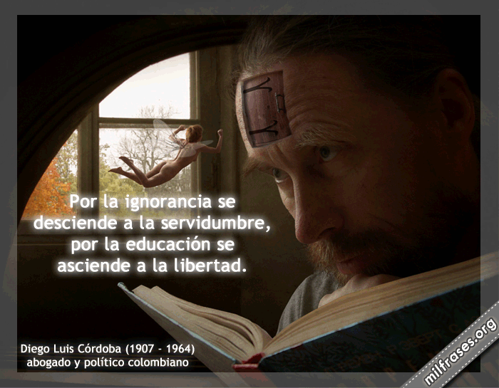 Diego Luis Córdova: A estudiar para no ser sirvientes