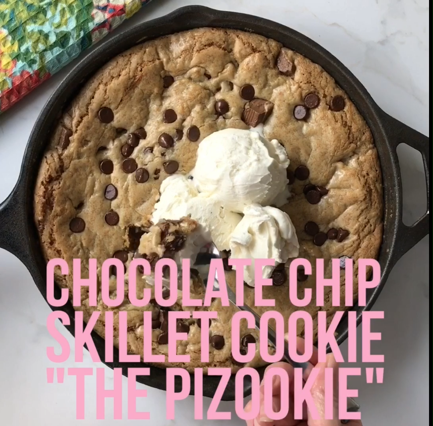 Lady's Chocolate Chip Skillet Cookie – Modern Honey