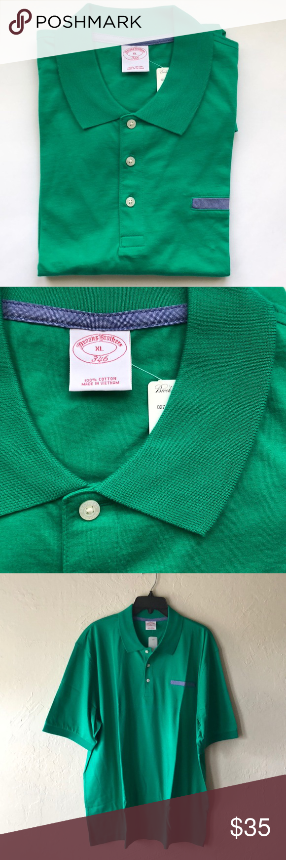 Nwt Brooks Brothers Green Polo Shirt Boutique In 2018 My Posh