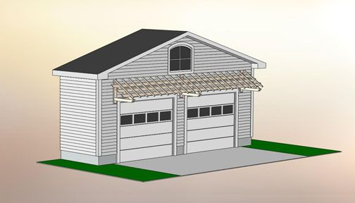 Best Garage Pergola With Angled Cantilever No Gp3A Garage 400 x 300