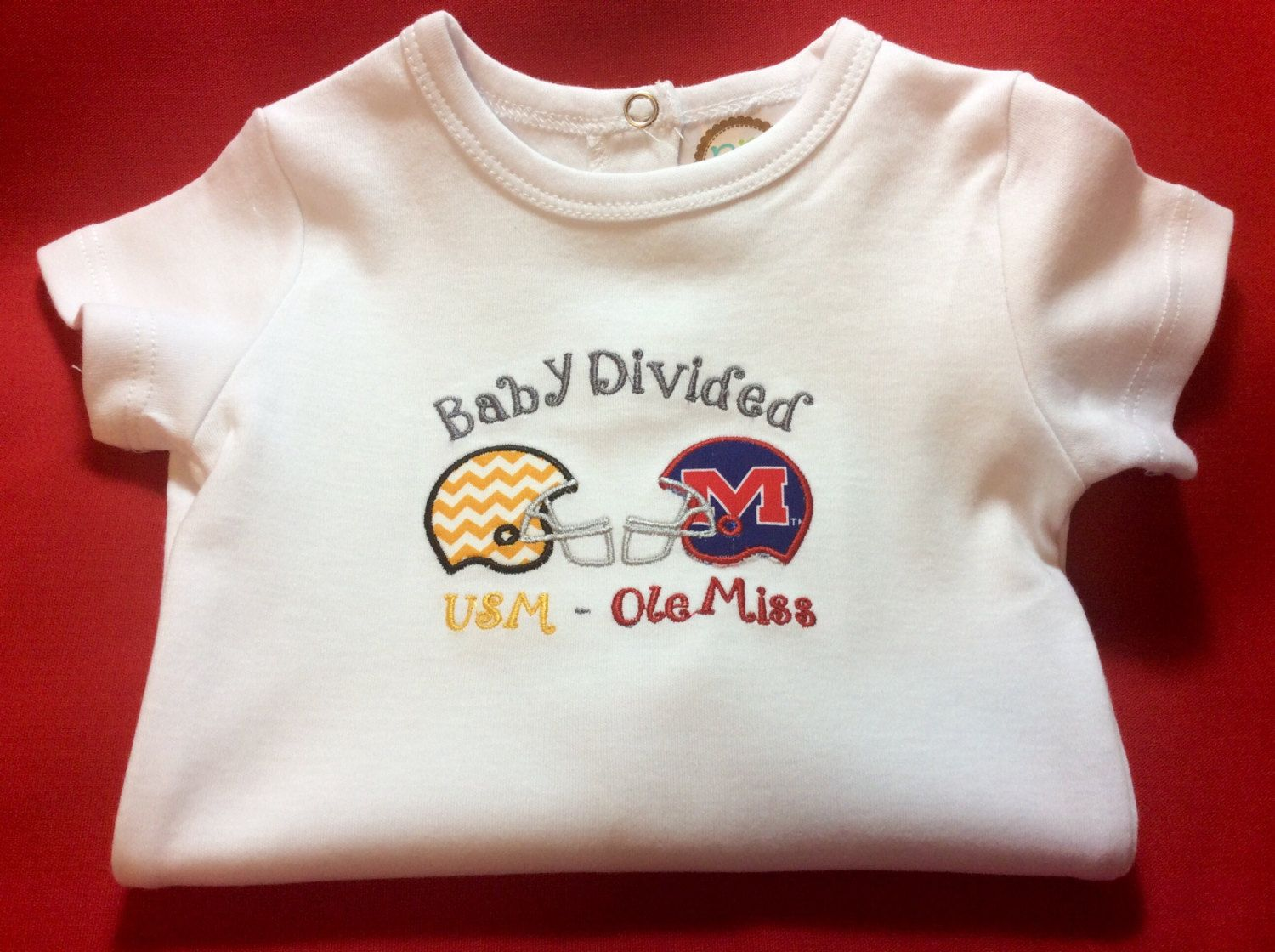 Custom House Divided / Baby Divided Onesie by SewSouthLane