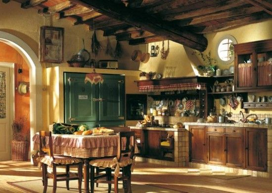 Structure options for the traditional country cottage kitchen into