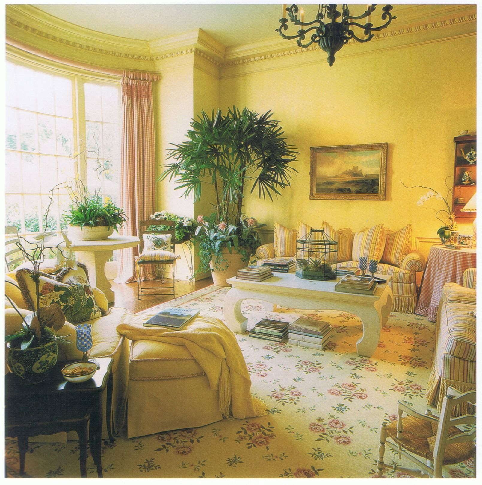 Pretty French Country Living Room