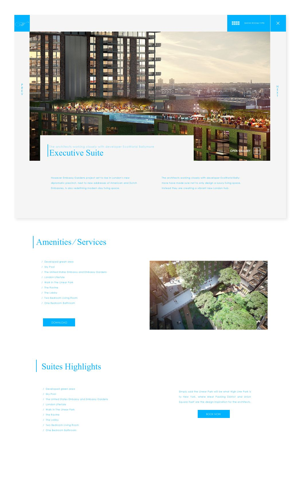 water roof residence property web design template ui ux on behance