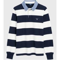 Gant Rugby Shirt Mit Streifen Weiss Gant Gant Mit Rugby Shirt Streifen Weiss In 2020 Rugby Shirt Preppy Style Preppy Look