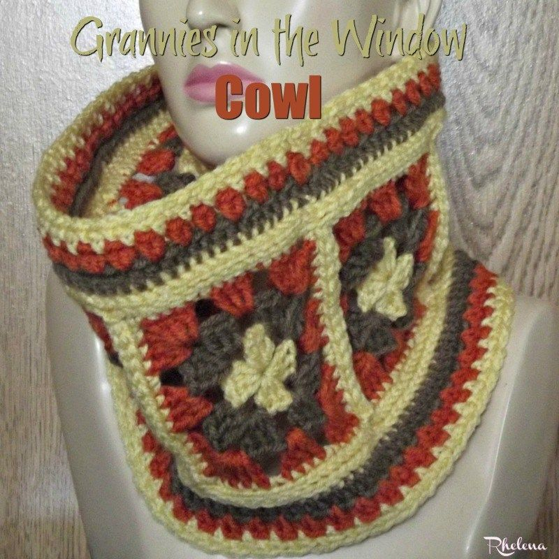 Grannies in the Windows Cowl ~ FREE Crochet Pattern | bufandas ...