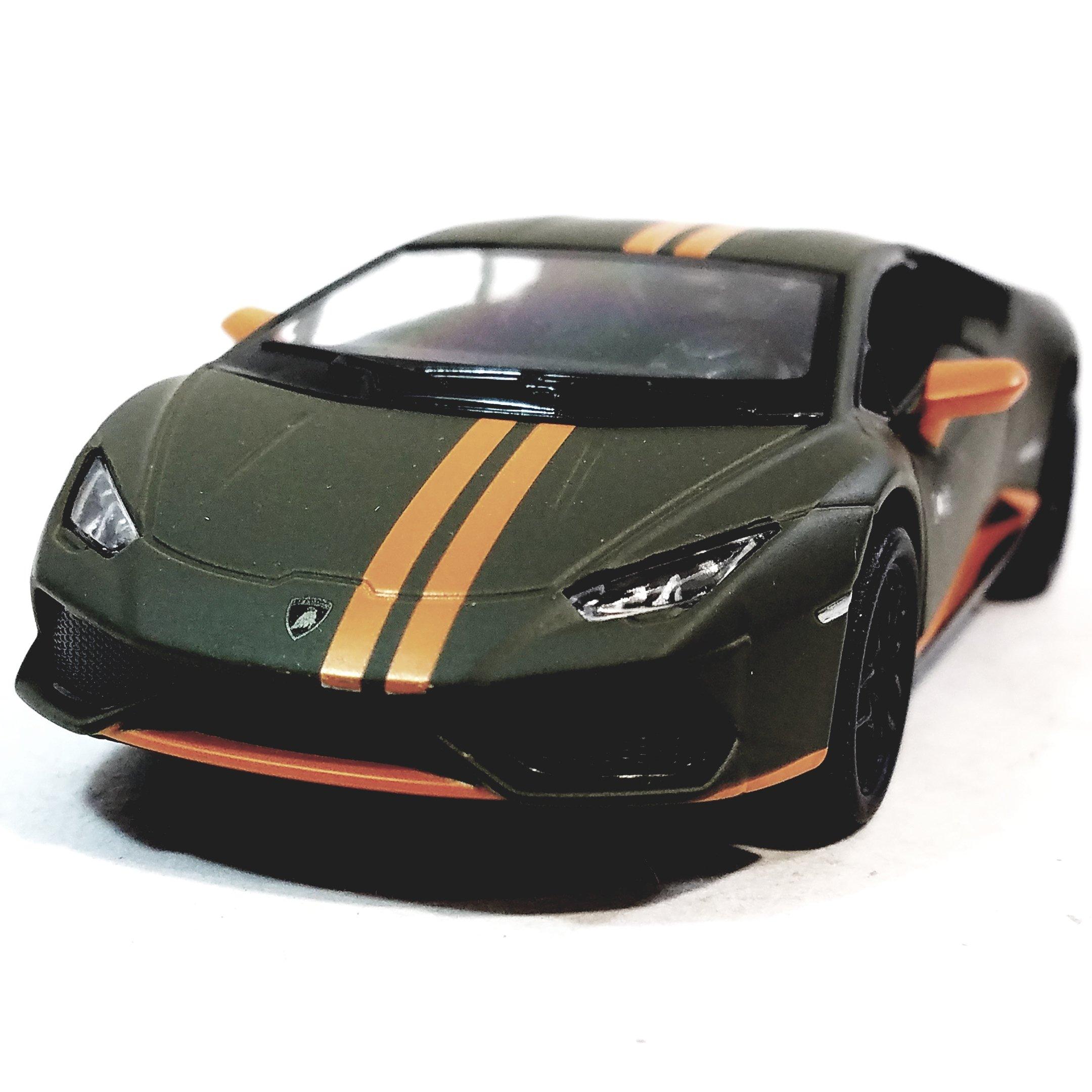 Kinsmart Army Green U0026 Orange Stripe Lamborghini Huracan LP610 4 Avio Hard  Top 1/