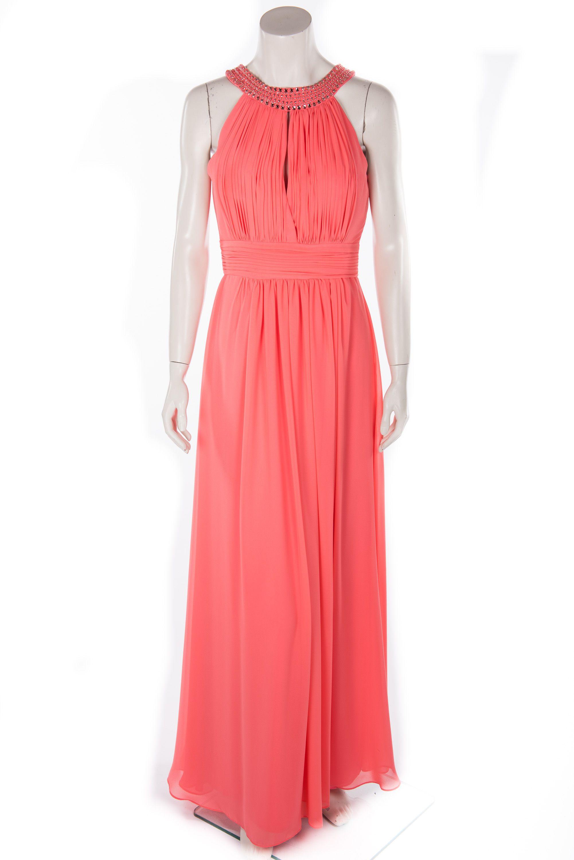 Vera Mont Abendkleid Lachs  Abendkleid, Kleider, Chiffon