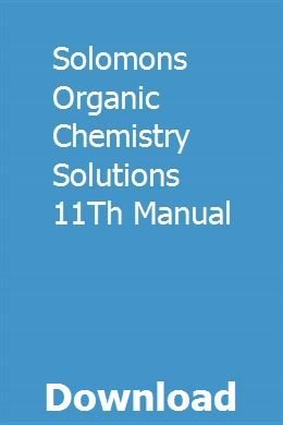 Solomon organic chemistry book pdf download