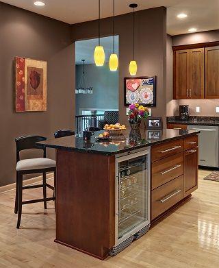 cherry kitchen island with black granite countertop and under rh pinterest com Venting Kitchen Island Kitchen Island with Stove