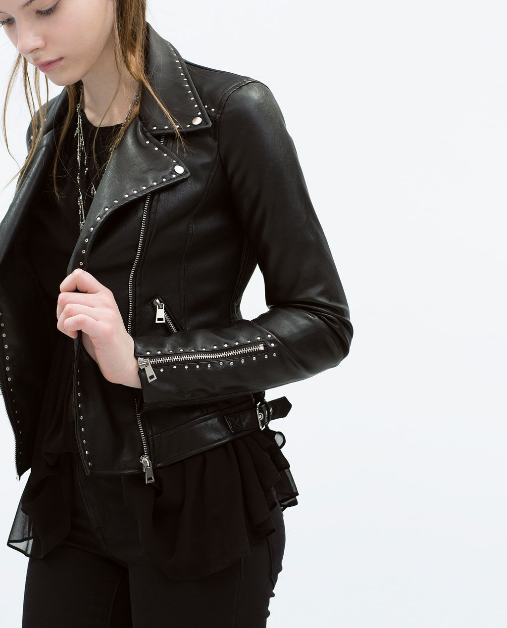 a5f70733c STUDDED JACKET-Outerwear-WOMAN | ZARA United States | Le Mode. en ...