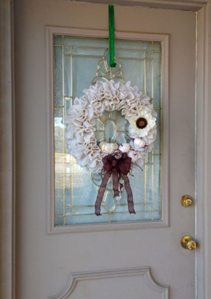 Rustic White Fall Wreath for Front Door, White Burlap Wreath, Modern Farmhouse Decor, Sunflow... Rustic White Fall Wreath for Front Door, White Burlap Wreath, Modern Farmhouse Decor, Sunflower Wreath, Pumpkin Wreath, Yearround Wreath,