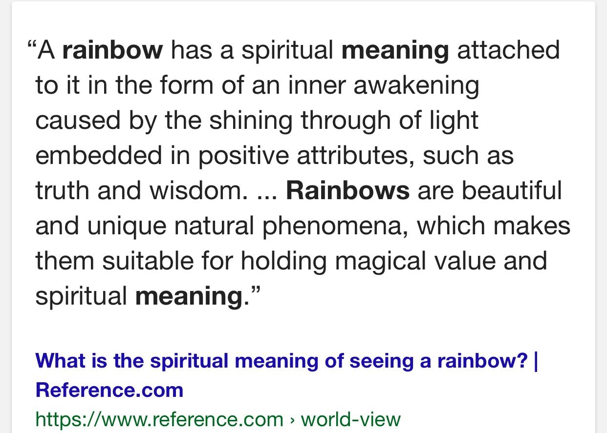 What Do Rainbows Mean Essence Pinterest