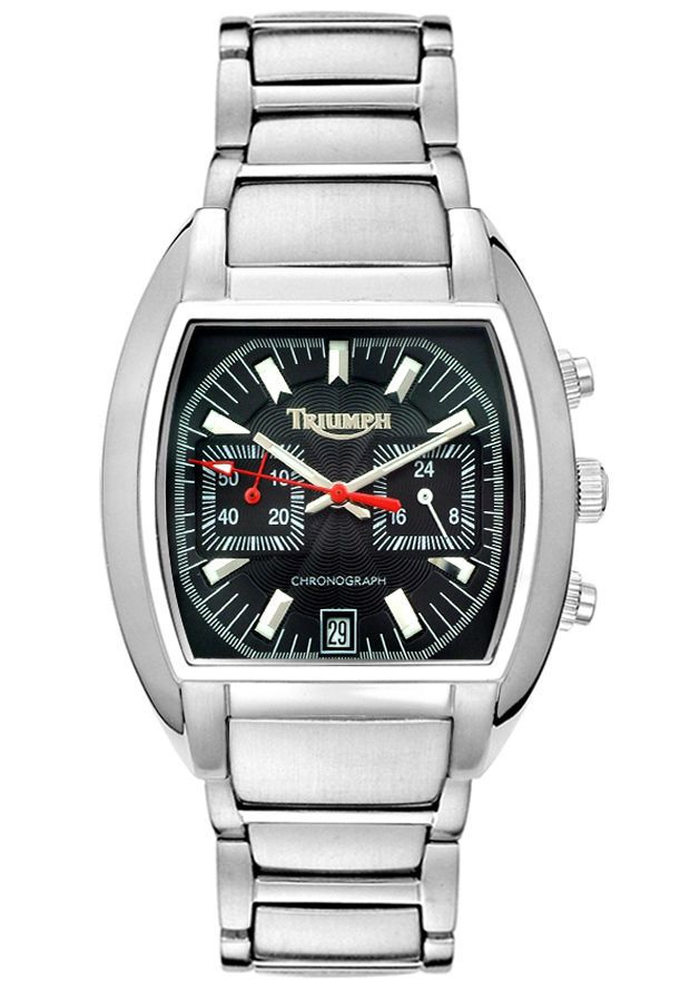 triumph motorcycles men's chronograph watch stainless steel black