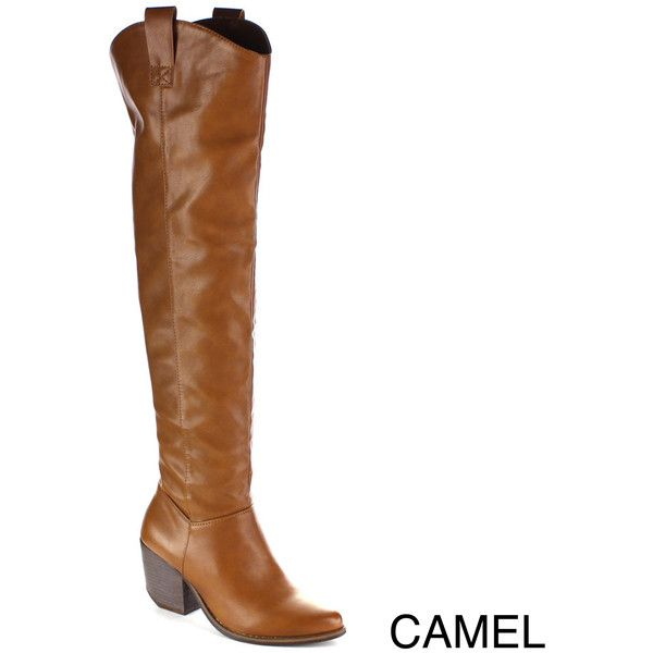 5aa9e0e05d7 MI.IM Women's Victoria-02 Western Style Over-the-Knee Boots ($56 ...