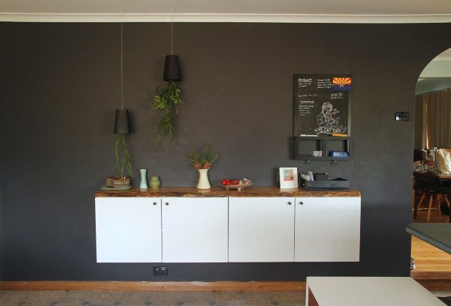 Diy Floating Buffet With Or Without Ikea Saltbush Avenue Ikea Living Room Tables Ikea Buffet Kitchen Dining Room