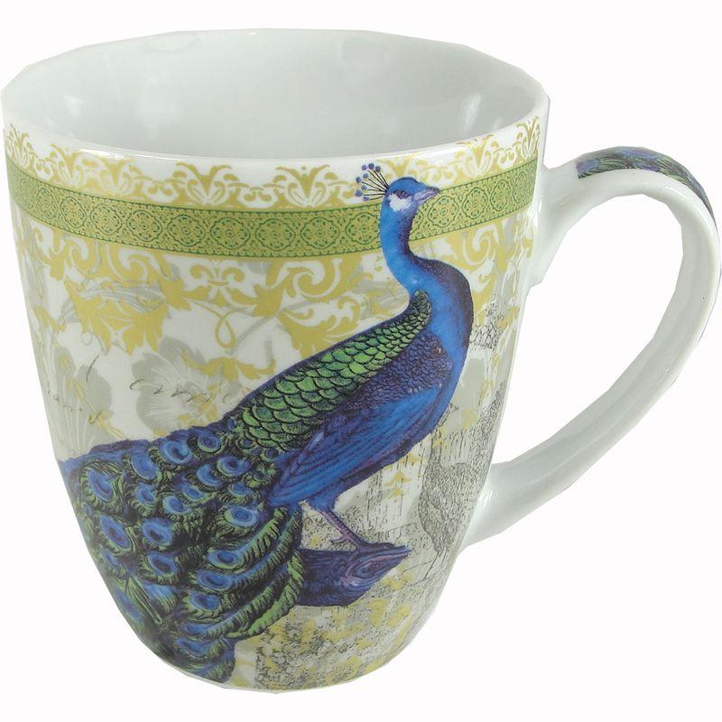 Painted Couple Peacock Wedding Gifts Unique Delicate Home: Isbanir Peacock Motif Porcelain Mug