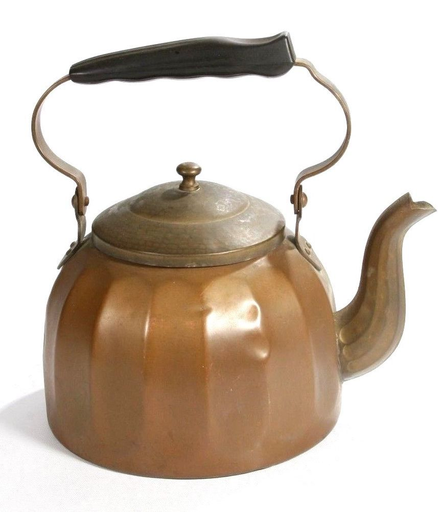 Vintage Copper Brass Kettle Tea Pot Made In Germany 2ltr2 Qt