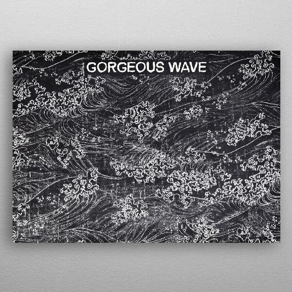 GORGEOUS WAVE by FARKI15 DESIGN | metal posters - Displate | Displate thumbnail