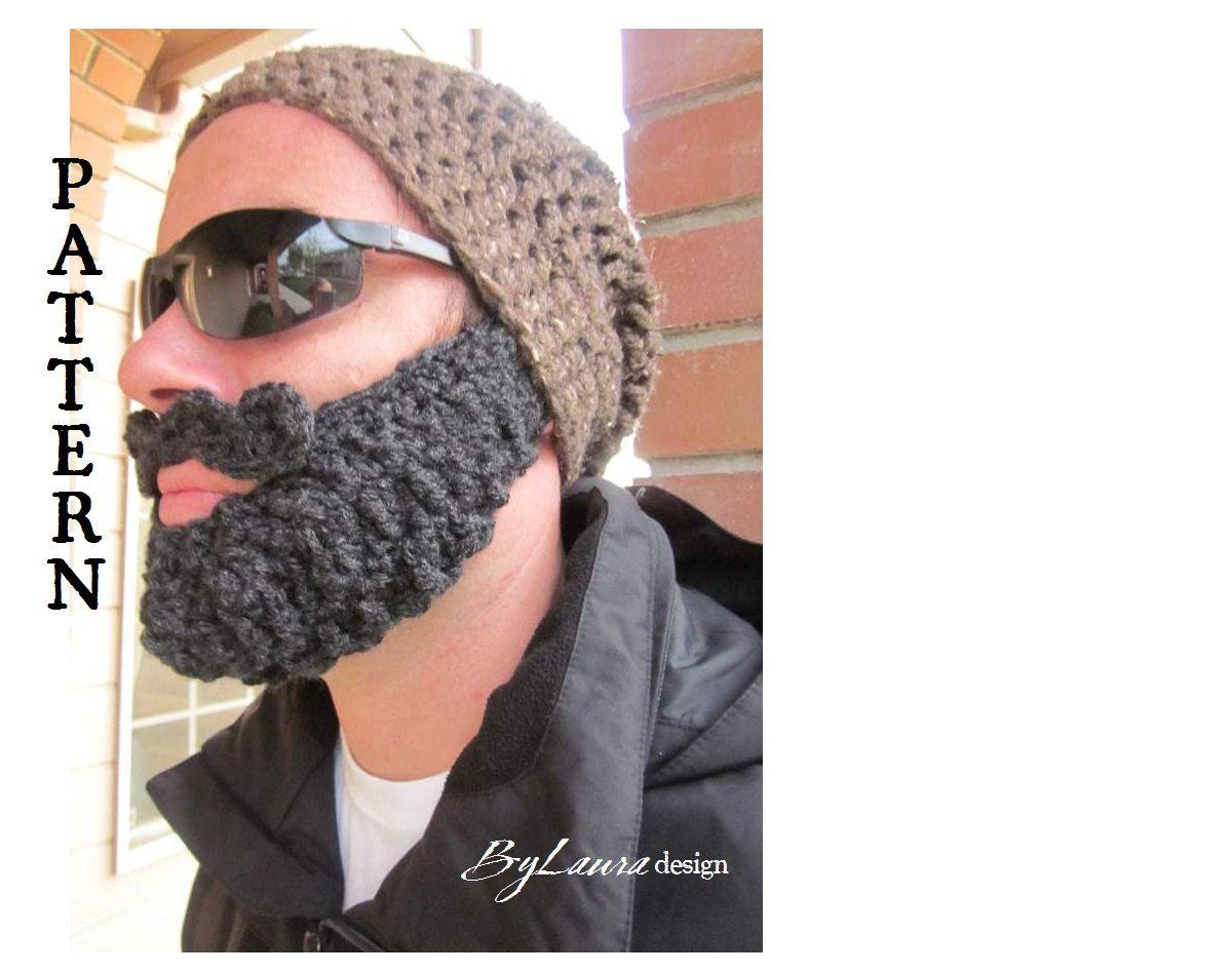 Daddy can match also. | Crochet beard, Pattern, Knitted beard