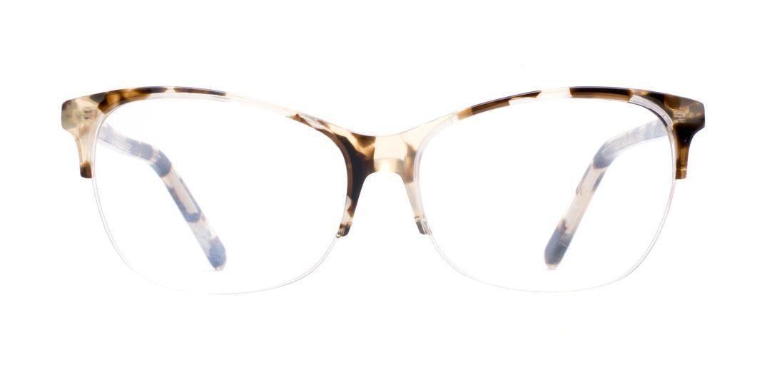 72da9faf3b1 Affordable Fashion Glasses Cat Eye Rectangle Semi-Rimless Eyeglasses Women  Flair…