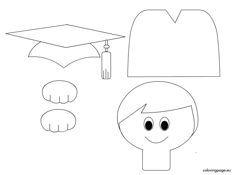 coloring pages for preschool graduation - photo#22