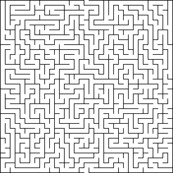 Impossible maze printable