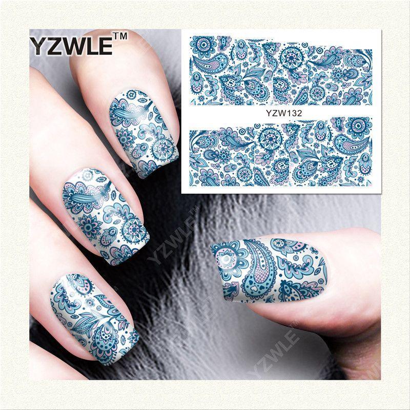 YZWLE 1 Sheet DIY Designer Water Transfer Nails Art Sticker / Nail ...