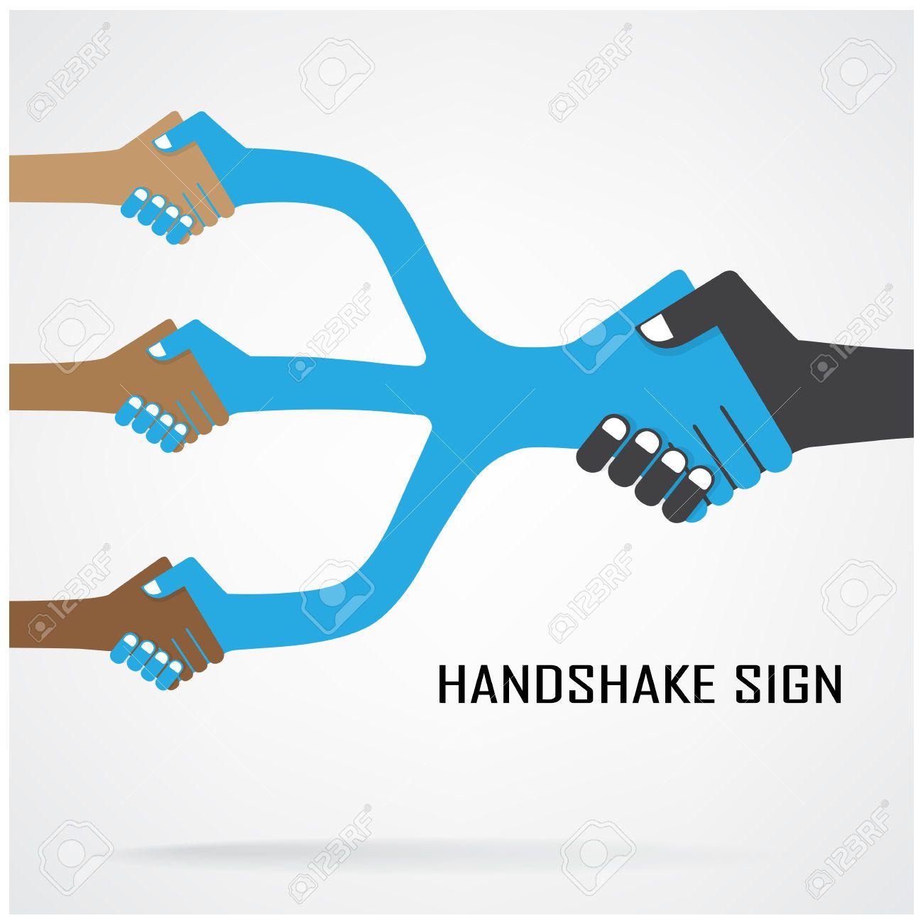 Handshake Abstraktes Zeichen Vektor-Design-Vorlage, Geschäfts ...