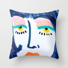 Mod Girl Throw Pillow by Bouffants and Broken Hearts #society6