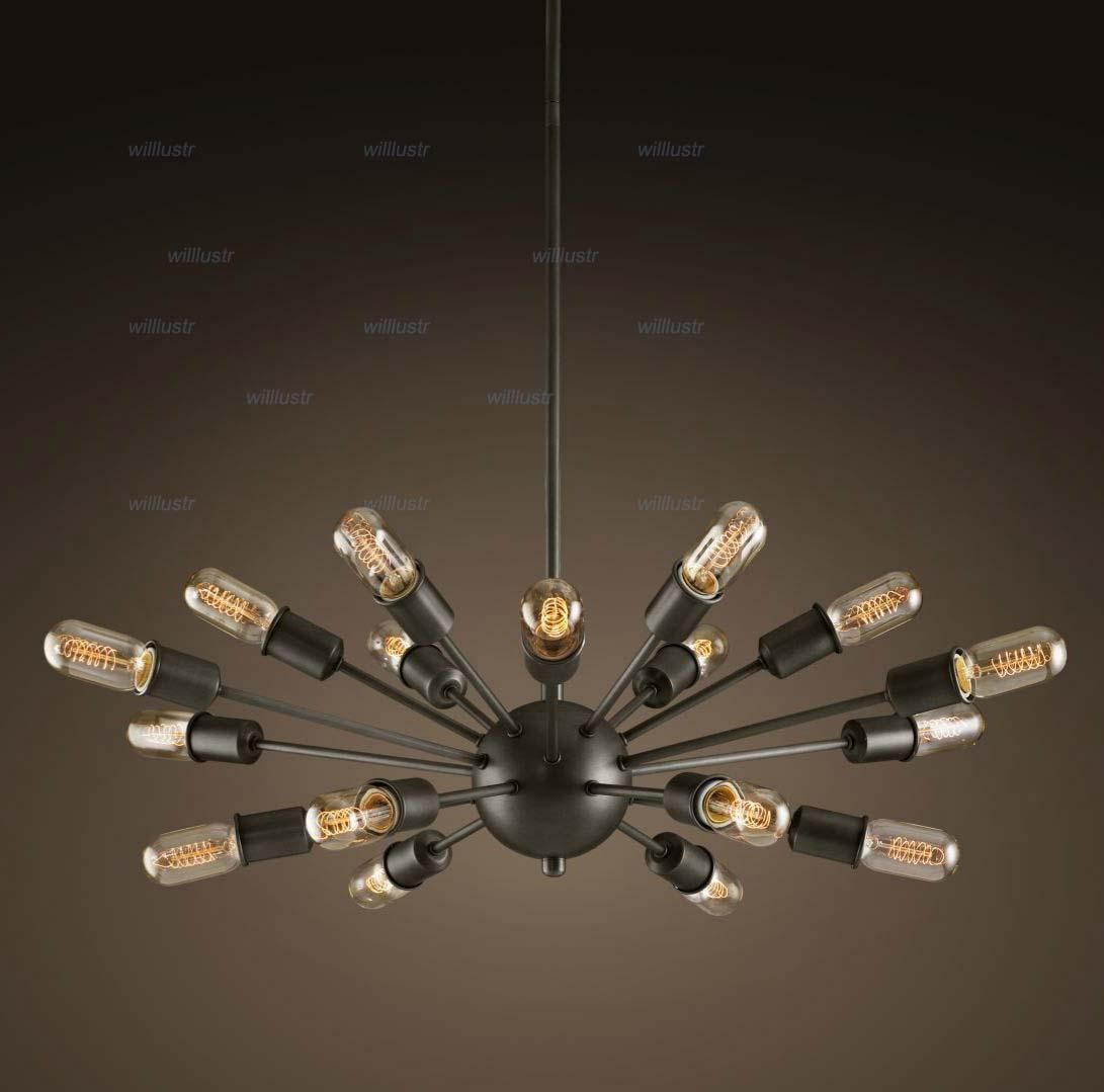 led pendant lights heads atomic starburst light sputnik lamp
