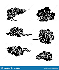 Japanese Clouds And Wave For Tattoo Design Chinese Clouds Stock Vector Illustration Of Circle Decoratio Cloud Tattoo Wave Tattoo Design Cloud Tattoo Design