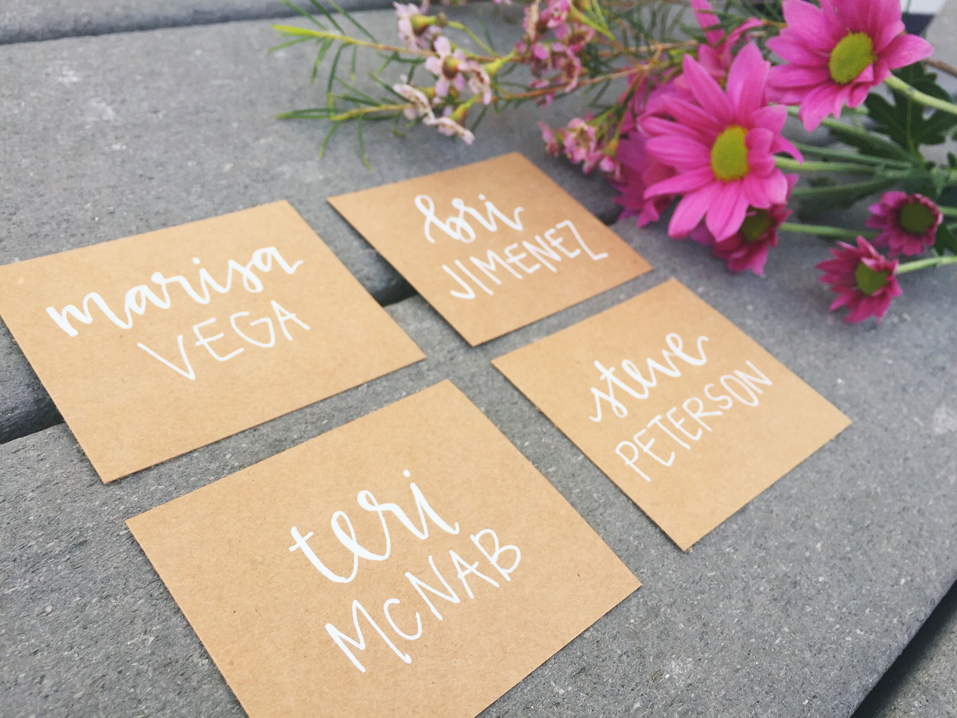 Nice Dinner Party Name Ideas Part - 14: PLACE CARD WEDDING DECOR IDEAS || Wedding Place Cards - Tent Fold - Escort  Card - Black Calligraphy With Kraft Paper - Bride Groom - Dinner Party -  Name Tag ...