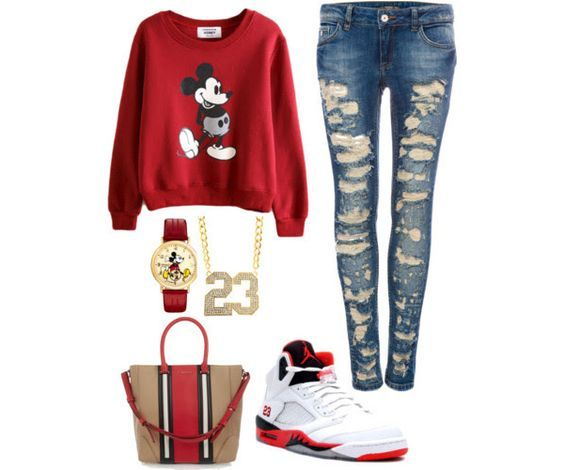 fbba1fef24c polyvore outfits for teenage girls with jordans - Google Search ...