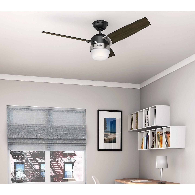 Hunter Fan Flare Matte Black Brushed Nickel 48 inch Ceiling Fan