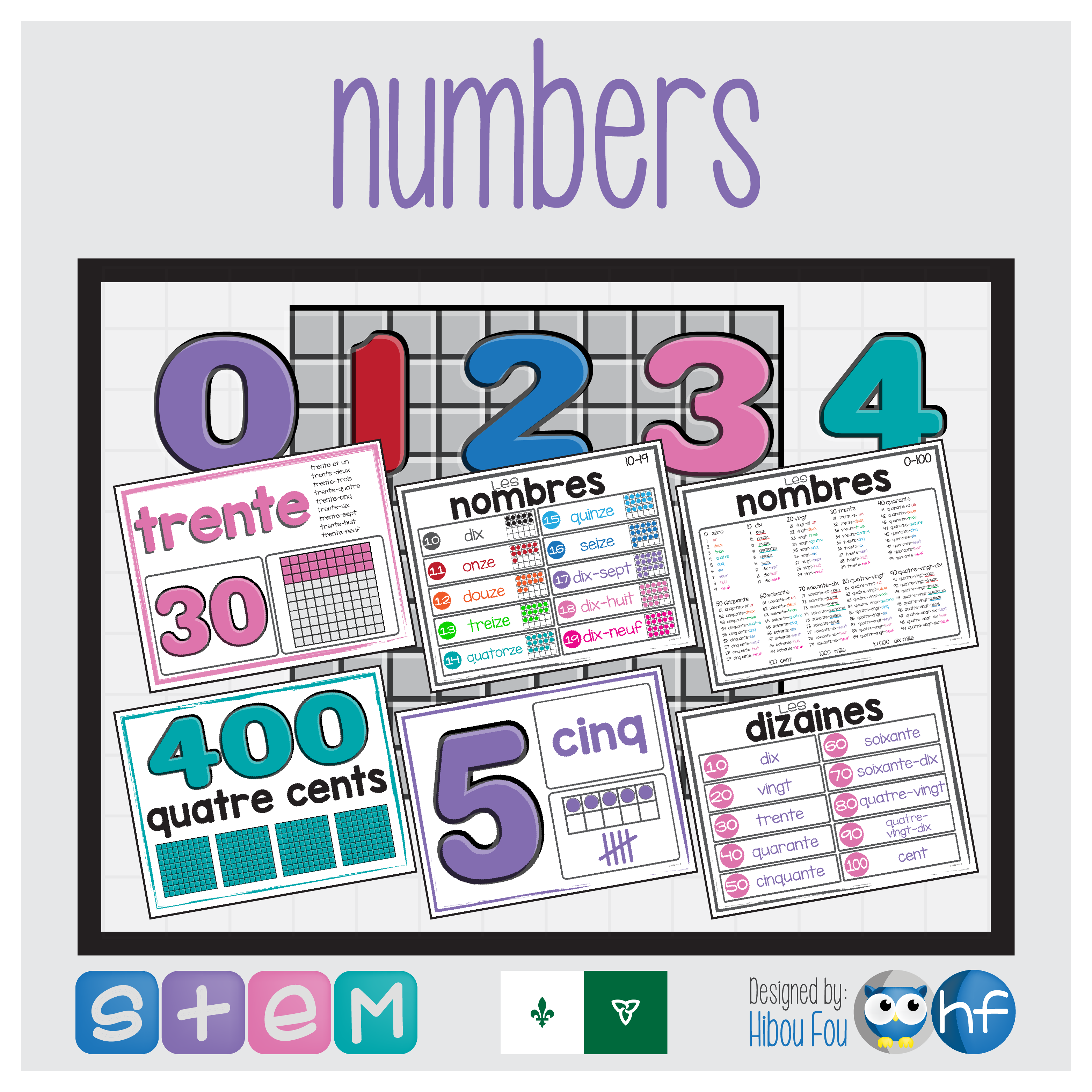 Numbers Primary French Immersion Anchor Charts Digital Learning French Immersion