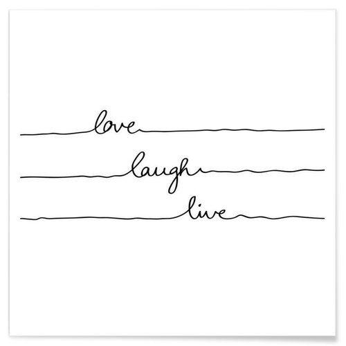 Premium Poster Love Laugh Live von Mareike Boehmer Juniqe Größe: 30 cm L x 30 cm B