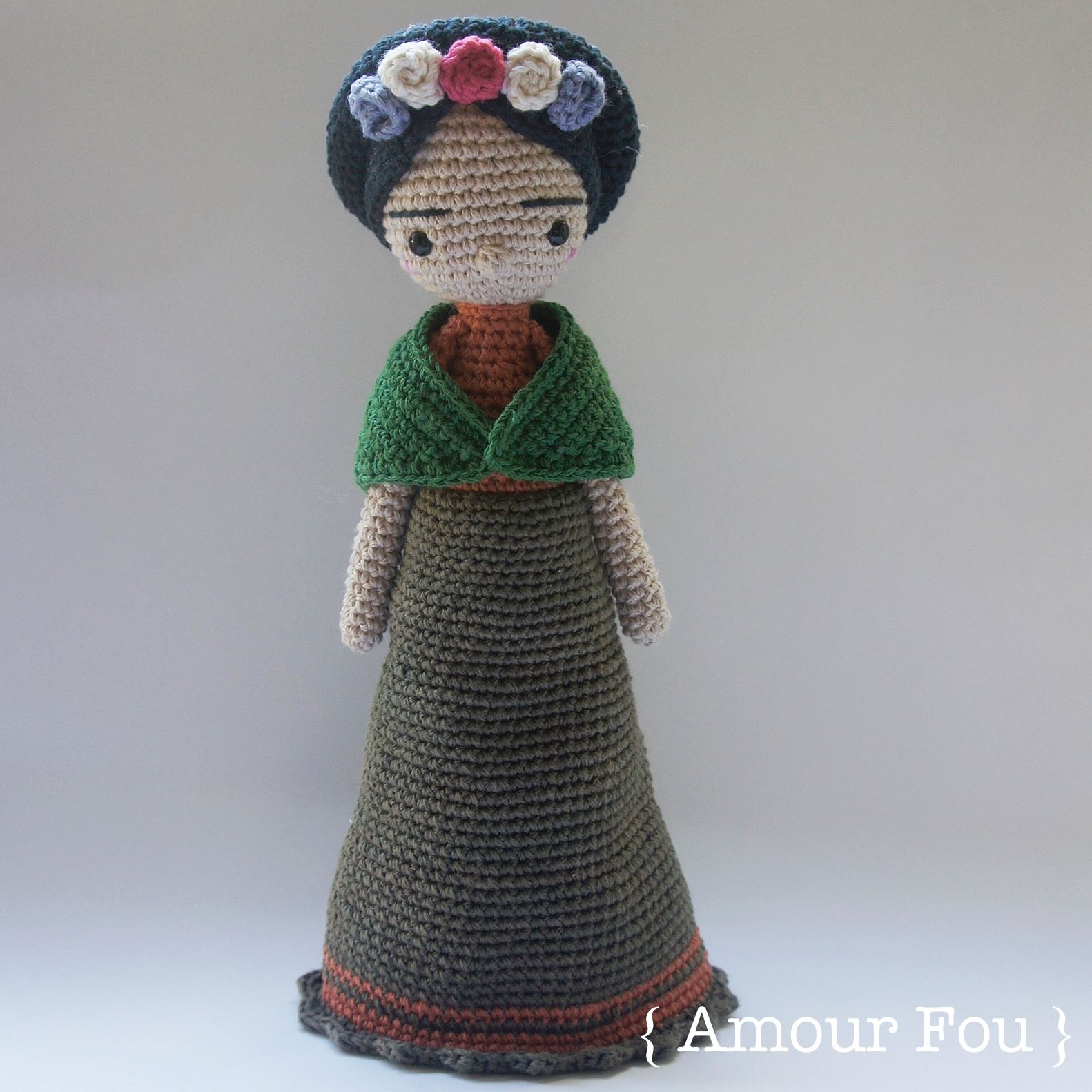 Mexican Doll - Crochet Pattern by {Amour Fou} | Frida, Patrones y ...