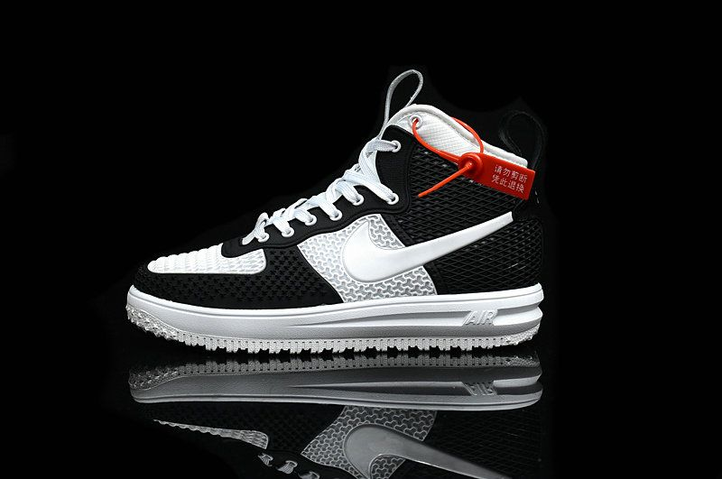 Popular MENS Nike Lunar Force 1 Black WHITE Full Nano Technology ... 047ef92ee