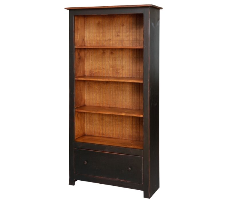 farmhouse bookcase with one drawer farmhouse bookcases on country farmhouse furniture id=82347