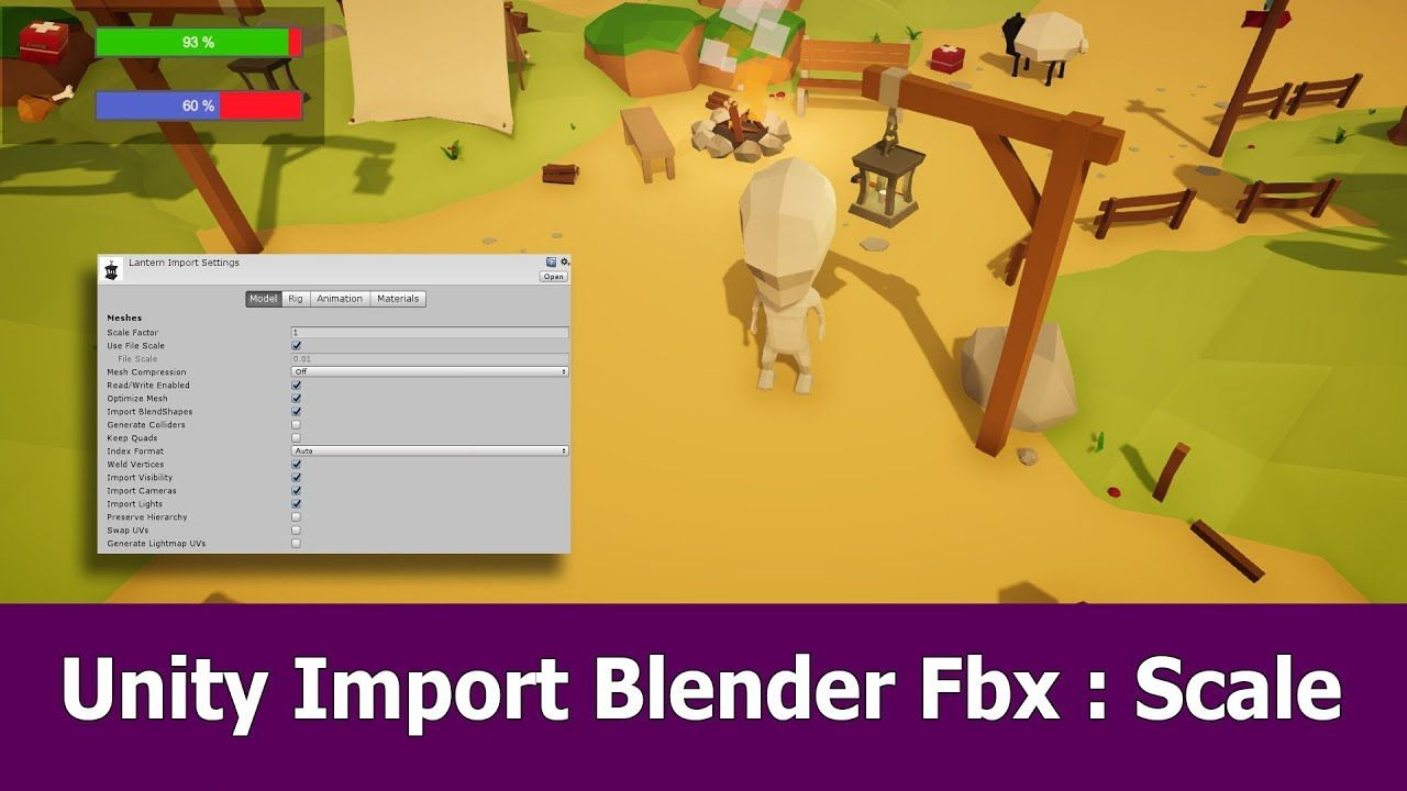 Unity Import Blender Fbx : Scale | unity in 2019 | Unity tutorials