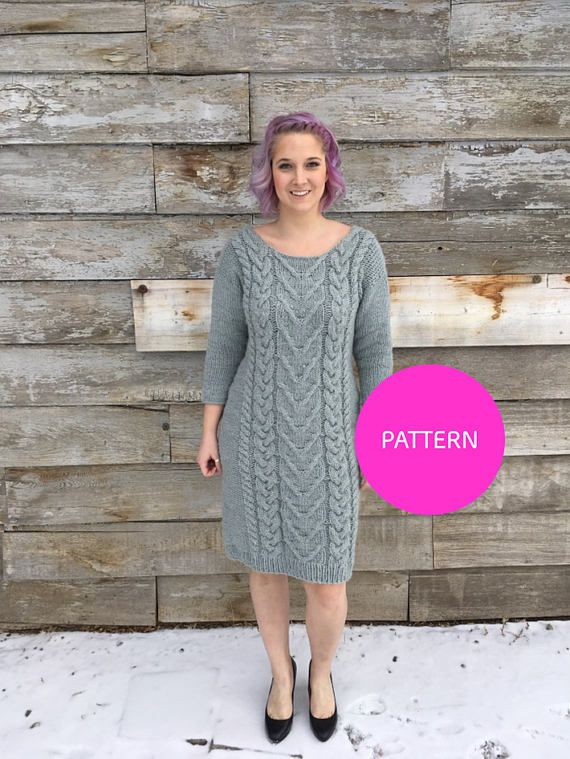 Pattern Only Hot And Bothered Cable Dress Cable Knit Dress